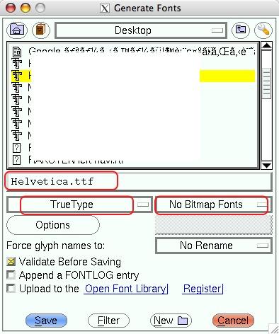 ファイルの書き出し。