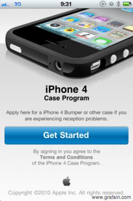 iPhone 4 無償ケース配布開始。