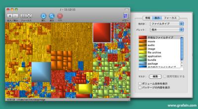 ハードディスク内を視覚化。