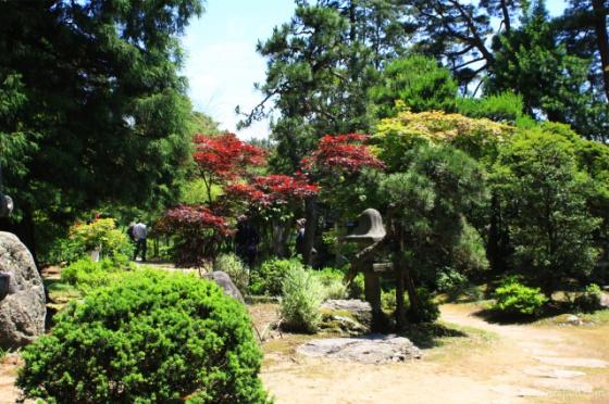 日本庭園もなかなかのもの。